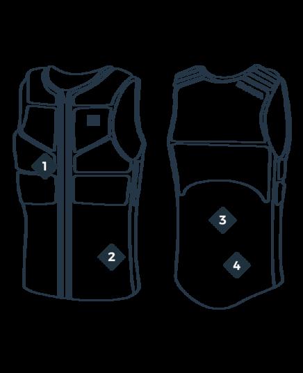 MANERA kaitborda veste BOOM, Alloy blue / 2019