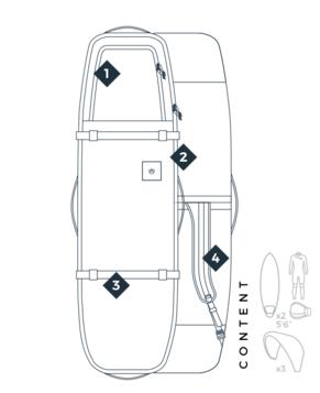 MANERA 747 LIGHT boardbag 190x26x54cm - 3.15kg