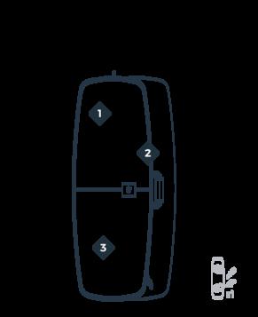 MANERA Twin-tip boardbag 150x55cm - 1kg