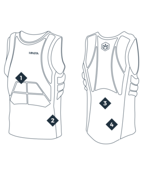 MANERA kaitborda veste X10D, Ink blue / 2019