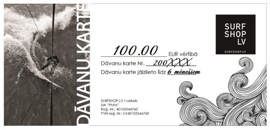DĀVANU KARTE 100.00 EUR