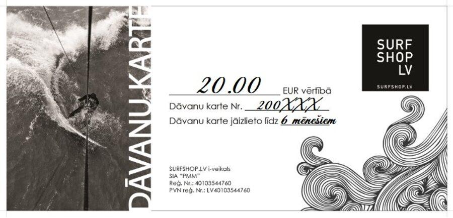 DĀVANU KARTE 20.00 EUR